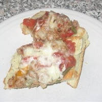 Sausage, Pepper, and Onion Pizza (8 Points)