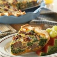 Sausage-Spinach Quiche