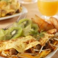 Sausage Sprout Omelet