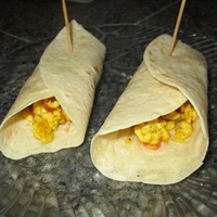 Scrambled Eggs Burrito