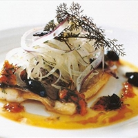 Sea bream with fennel salad and orange dressing