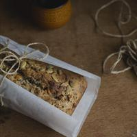 Seeded Banana Bread w/ Dried Figs & Turkish Apricots {vegan}