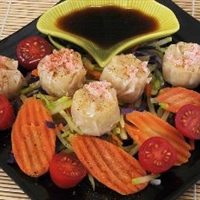 Shrimp and Vegetable Steamed Dumplings