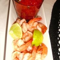 Shrimp with Cilantro Lime Cocktail Sauce