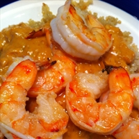 Shrimp with Spicy Peanut Sauce (J wine)