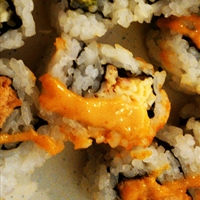 Simple Sweet and Spicy Tuna Uramaki