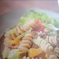 Simple tuna sweetcorn pasta salad
