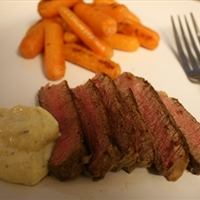 Sirloin Steak with Tarragon-garlic Sour Cream