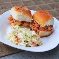 Slow Cooker Buffalo Chicken Sandwiches (Crockpot)