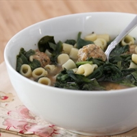 Slow cooker Italian sausage meatball soup
