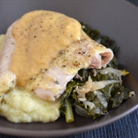 Slow Cooker Roast Chicken & Gravy (Paleo)