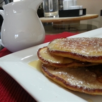 Sour Cream Pancakes with Sour Cream Maple Syrup