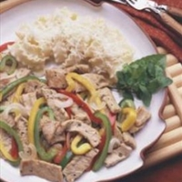 Southwestern Pork and Pepper Stir-fry