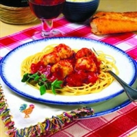 Spaghetti and Chicken Meatballs
