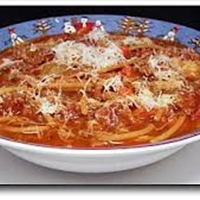 Spaghetti Soup (ground beef)
