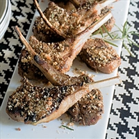 Spiced Lamb Chops with Rosemary Crumbs
