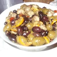 Spiced Marinated Olives and Mushrooms