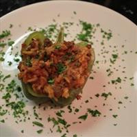 Spicy Beef-Stuffed Bell Peppers
