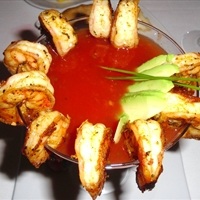 Spicy Hot Shrimp Cocktail