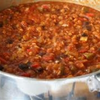 Spicy Red Lentil Chili