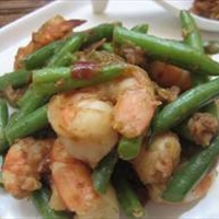 Spicy Shrimp with Ginger Garlic Green Beans