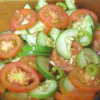 Spicy Tomato and Cucumber Salad
