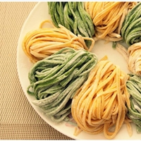 Spinach and Carrot Homemade Pasta (eggless)