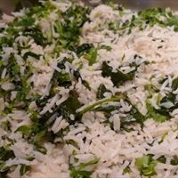 Rice and Spinach with Lemon