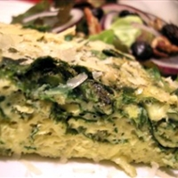 Spinach and Scape Frittata