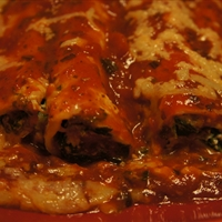 Spinach-Stuffed Canneloni