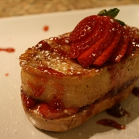Strawberry-stuffed French Toast