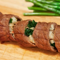 Stuffed Beef Roulade with Port Wine Sauce