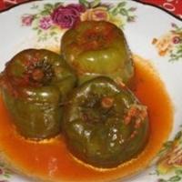 Stuffed Bell Peppers (Meat Dolma)