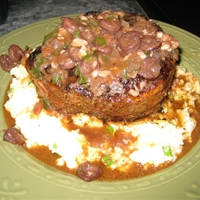 Stuffed Filet Mignon with Crawfish Bordelaise Sauce Pt 1