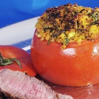 Stuffed Tomatoes with Parmesan, Garlic, and Basil