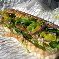 Subway Veggie Delight Sandwich (healthy, meatless)