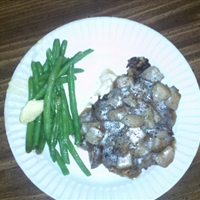 Sunny's chicken Fried Steak w/diced potato Gravy