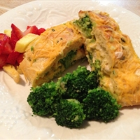 Super Simple Cheesy Chicken Broccoli Stuffed Braid... uh Bread!
