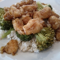 Sweet and Spicy Orange-Ginger Chicken with Broccoli