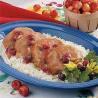 Sweet Cherry Pork Chops