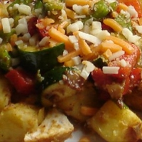 Sweet Potato And Cajun Chicken Hash