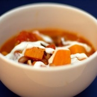Sweet Potato Black-Eyed Pea Soup