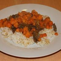 Sweet Potato with Coconut Beef