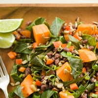 Sweet Potatoes with Collards & Aduki Beans