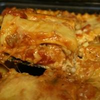 Sweet & Spicy Sausage Lasagna