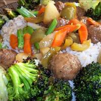 Szechwan Sweet and Sour Meatballs