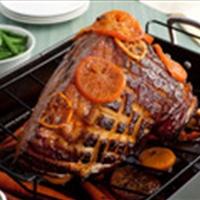 Tangerine-Glazed Easter Ham With Baby Carrots