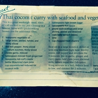 Thai Coconut Curry with Seafood and Vegetables