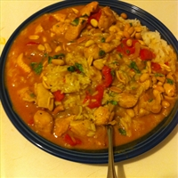 Thai Curry Chicken w/ Sweet Red Peppers