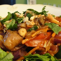 Thai Peanut Chicken Stir-Fry Salad